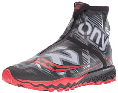 Saucony Men's Razor Ice+ Trail Running Shoe, Black/White/Blue, ...