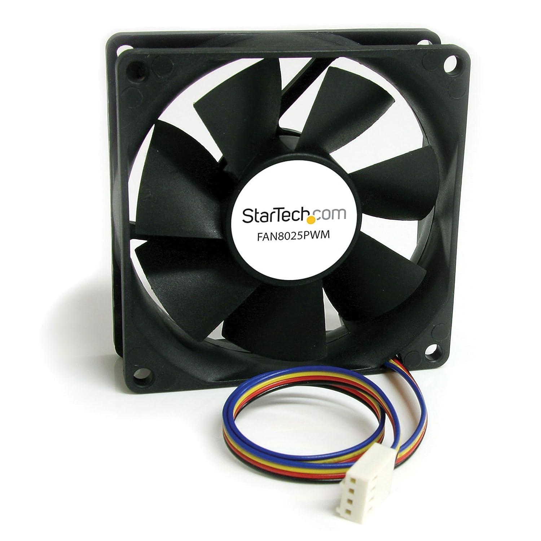 StarTech.com 80x25mm Computer Case Fan with PWM - Pulse Width Modulation Connector - computer cooling Fan - 80mm Fan - pwm Fan (FAN8025PWM)