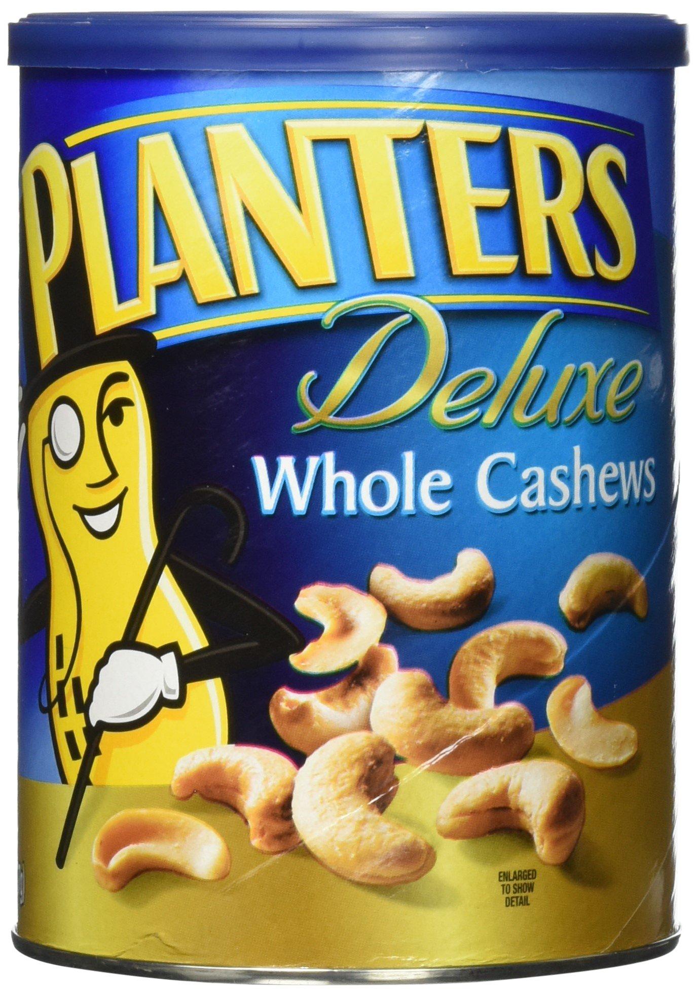 Planters Deluxe Whole Cashew, 18.25 Ounce -- 12 per case.