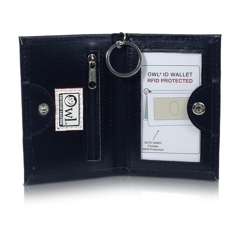 Amazon.com: Búho 100% reciclado con doble tarjeta cartera ID ...