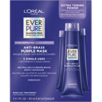L'Oreal Paris EverPure Sulfate Free, Ultra Pigmented Anti Brass Purple Mask Rinse Out Treatment, Neutralizes Brass and…