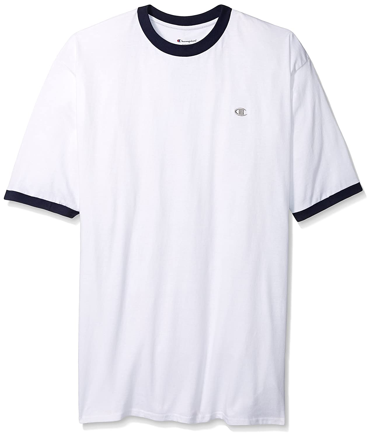 ab70a1864aef outlet Champion Men s Big and Tall Short Sleeve Jersey Ringer T-Shirt