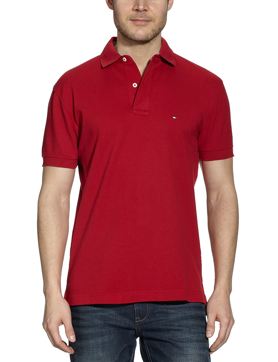Tommy Hilfiger Polo Shirts Small Core Summer Red At Amazon Mens