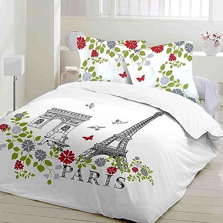 Copripiumino Singolo Parigi.Parigi Torre Eiffel Soulbedroom 100 Cotone Biancheria Da Letto