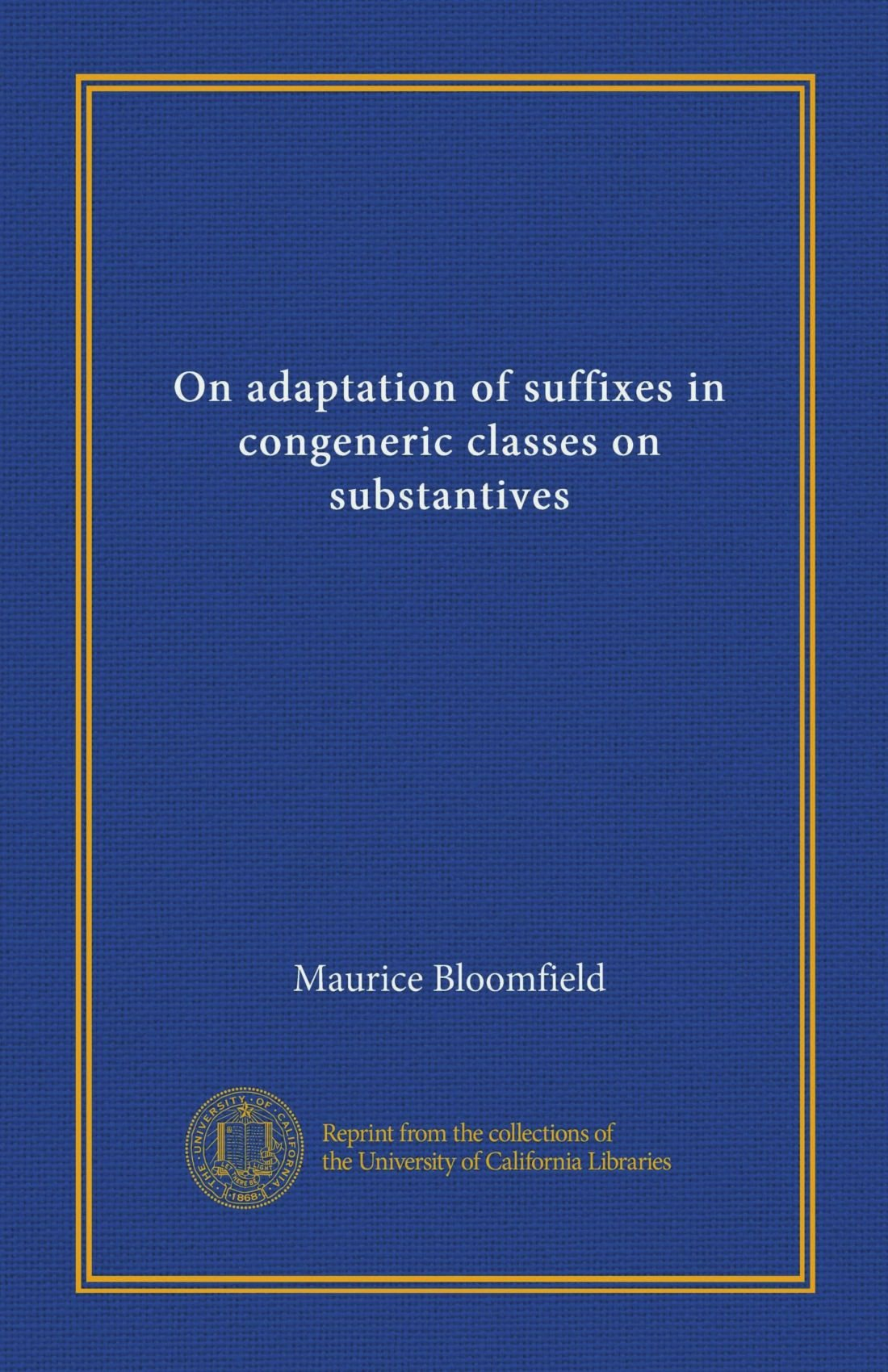 On adaptation of suffixes in congeneric classes on substantives pdf epub