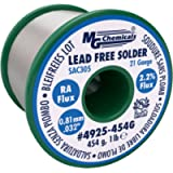'MG Chemicals SAC305, 96.3% Tin, 0.7% Copper, 3% Silver, Non Leaded Solder, RA Flux.81mm, 0.032'' Dia.', 454g (4925-454G…