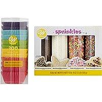 Rainbow Cupcake Liners and Sprinkles Set, 5-Piece