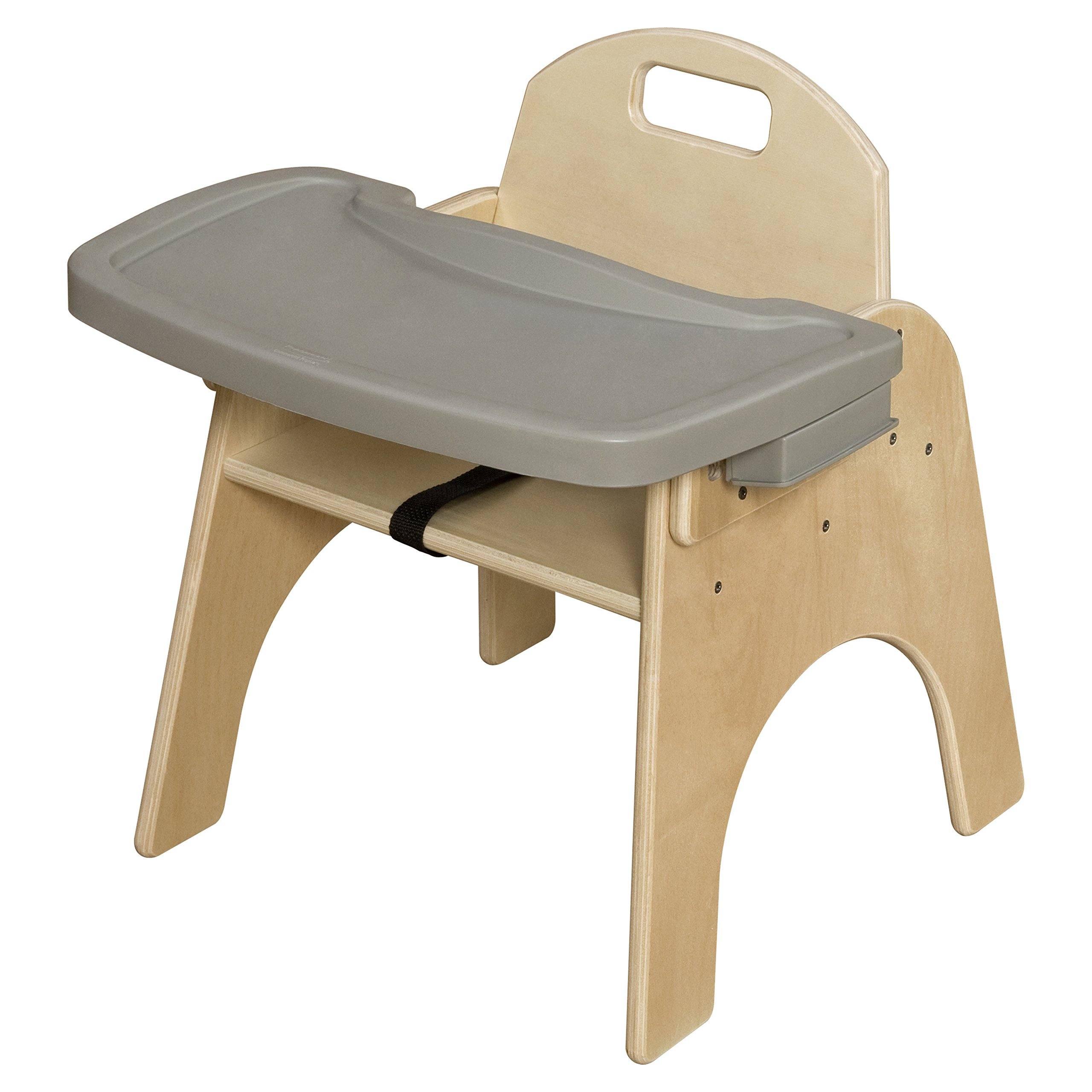 Wood Designs Stackable Woodie Kids Chair with Adjustable Tray, 11'' High Seat by Wood Designs (Image #1)