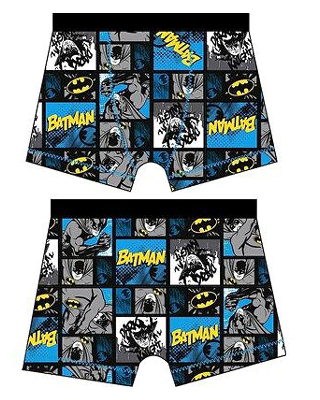 F4S® Boys DC Comics Avengers/Batman Design Character Logo Print Boxer Trunks Shorts Sizes 4-10 Years