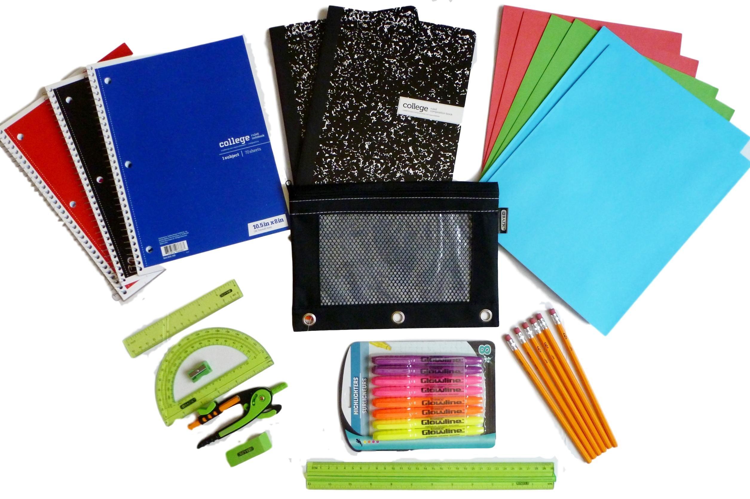 Back to School Supplies Bundle of 31 Pieces Junior High, High School, College