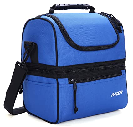 Amazon.com  MIER Adult Lunch Box Insulated Lunch Bag Large Cooler ... c02568d92f5e