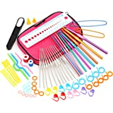 LIHAO Aluminum Crochet Hooks Set and Complete Accessories