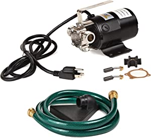 Trupow 1/10HP 330GPH 115-Volt Mini Portable Electric Utility Sump Transfer Water Pump with Water Hose Kit