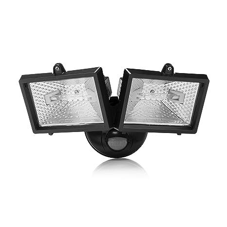 Smartwares 10.031.59 Doble foco halógeno con sensor exterior 2x120W incluido 2250ml negro ES120/