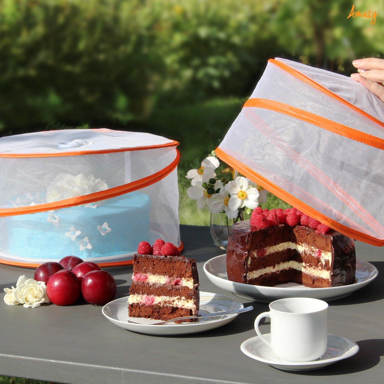 Pantalla protectora anti insectos para comida y bebida Amazy Mosquitera Cubre Alimentos 3 unids