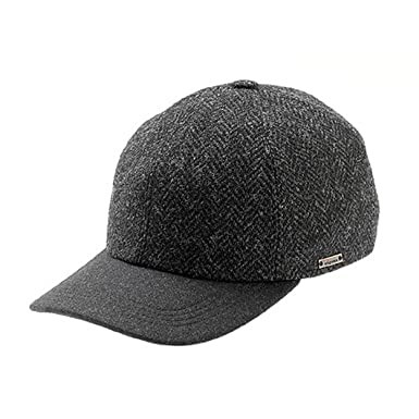ba27c1c2d07ea1 Wigens Lars - Grey Tweed Baseball Cap - Earlaps at Amazon Men's Clothing  store:
