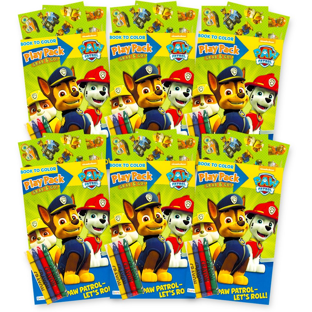 Paw Patrol Ultimate Party Favors Packs 6 Sets With Stickers Coloring Books And
