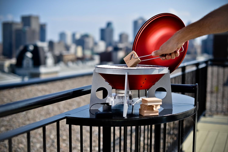 Red//Silver VitalGrill Gourmet BBQ Grill