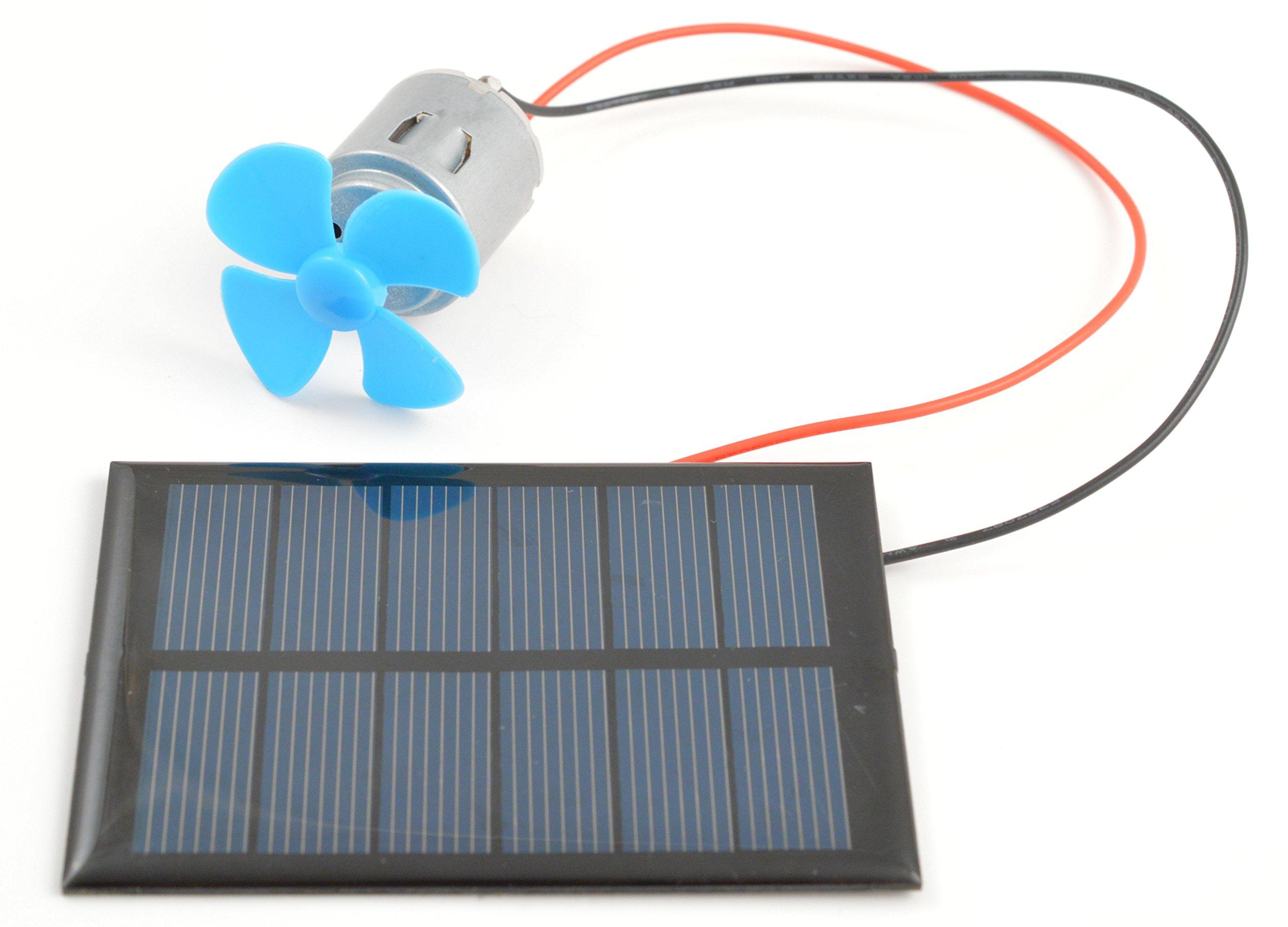 Solar Panel, Motor and Fan Kit