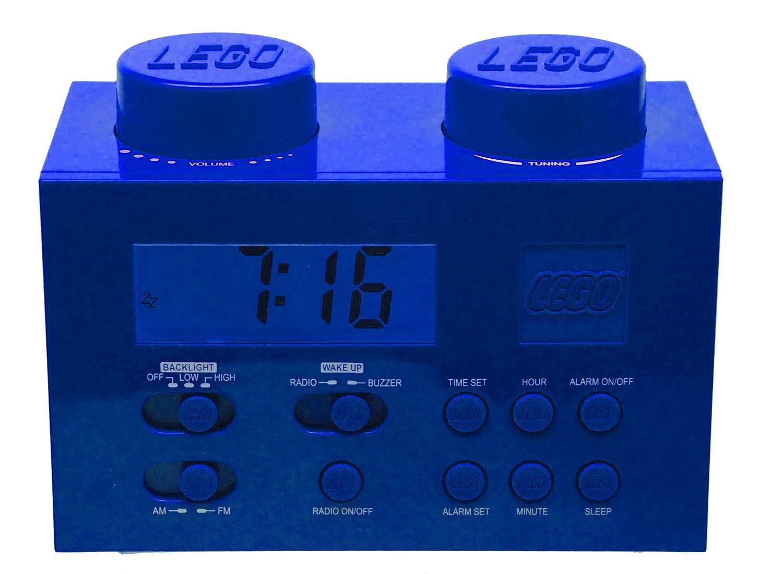 Amazon.com: LEGO Alarm Clock Radio - Blue: Toys & Games