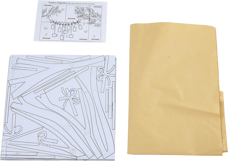 Alicemall Adesivi Murali Adesivo da Parete Wall Sticker in Acrilico Rimovibile a Forma di Albero con Rami Incurvati e Cornici Porta Foto Stile 1 Rosso