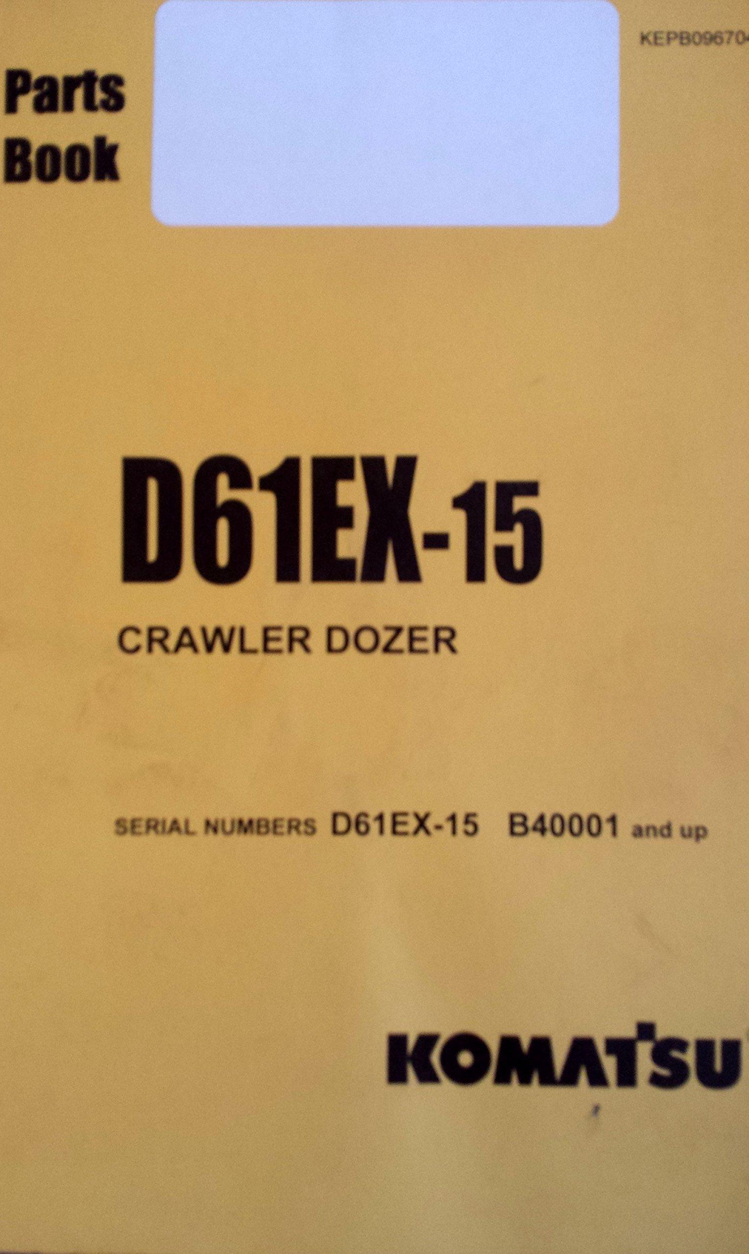 Komatsu D61EX-15 Crawler Dozer Parts Manual: Komatsu: 0730347164300