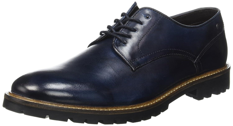 Base London Barrage, Zapatos de Cordones Derby para Hombre 45 EU|Azul (Washed Blue)