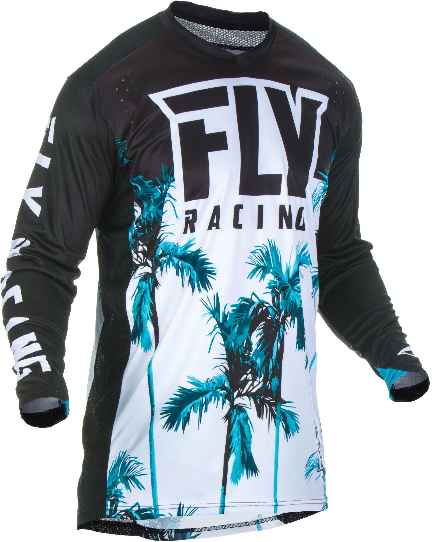 Fly Racing 2019 Lite Hydrogen Jersey - Paradise (MEDIUM) (TEAL/BLACK)