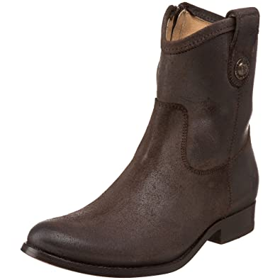 FRYE Women's Melissa Button Short Ankle Boot, Dark Brown Soft Vintage  Leather, ...