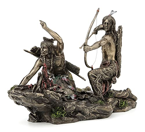 Native American Indians Hunting Statue Sculpture Figurine