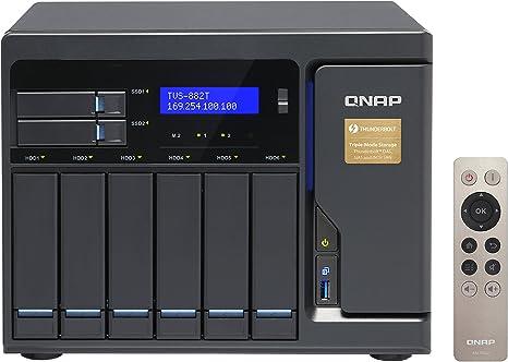 QNAP TVS-882T Ethernet Torre Negro NAS - Unidad Raid (24 TB ...