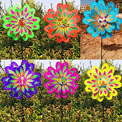 SimpleLif Windmill,Insect Windmill Wind Spinner Bee Butterfly Kids Children Pinwheel Toys (Random Color): Home & Kitchen