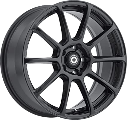 Konig RUNLITE Matte Black Wheel with Painted Finish 17 x 7.5 inches //5 x 114 mm, 35 mm Offset