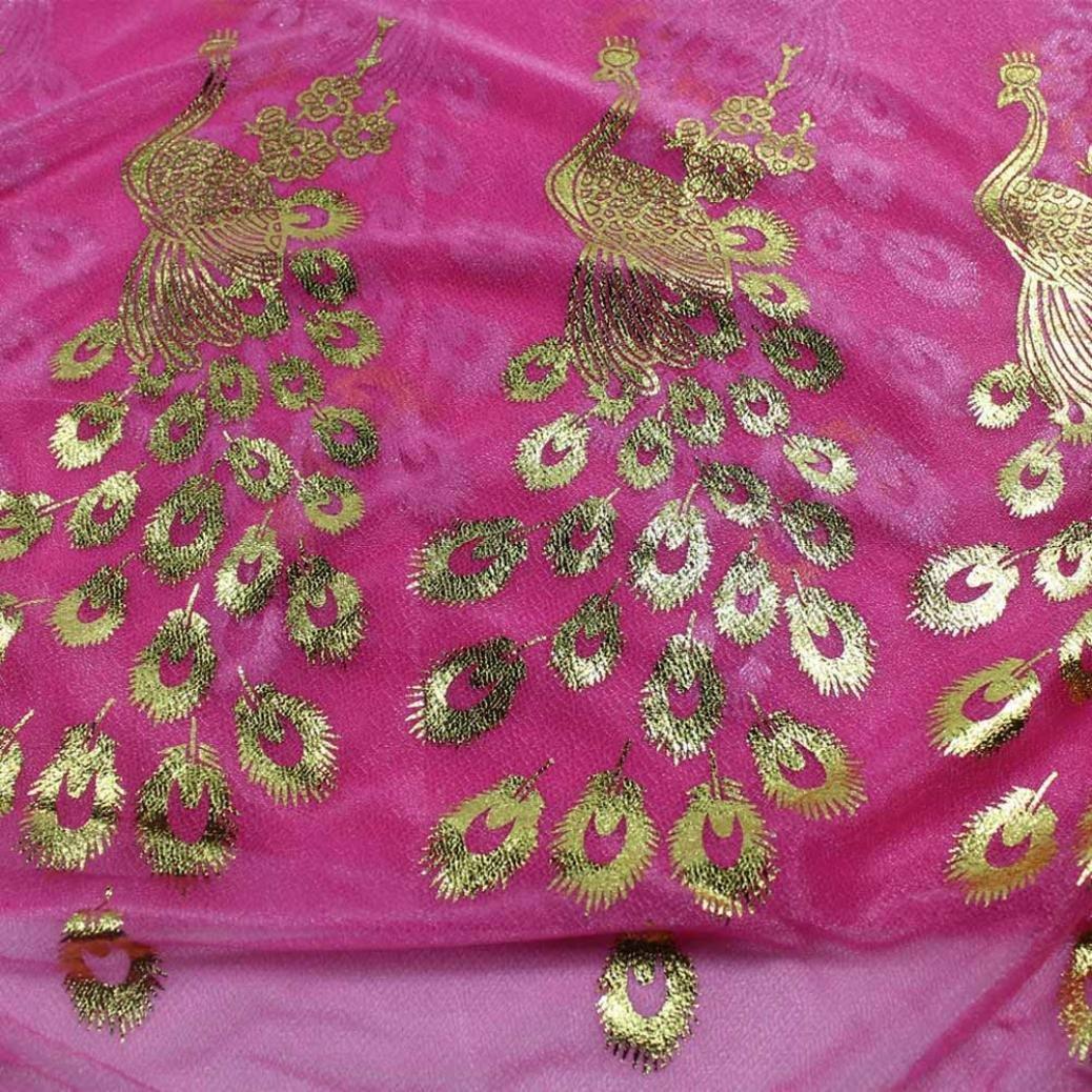 ea40634e81f99 Foulard Femme Soie POachers Mousseline de Soie Grand Foulards Paon Imprimé  Châle Printemps et Automne Hiver