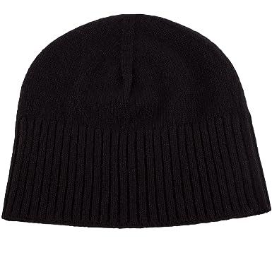 b92c14e03c5 Love Cashmere Women s 100% Cashmere Ski Beanie Hat - Black ...
