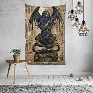 TPOKIM Cthulhu Idol Oversized Art Tapestry Wall Hanging Decor Bedroom Dorm Living Room Home Blanket£¨4060inches