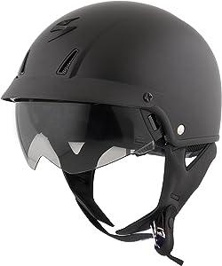 ScorpionExo Unisex-Adult half-size-helmet-style EXO-C110 Helmet (Matte Black,Medium), 1 Pack