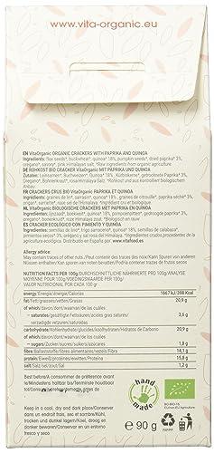 Vita Organic Cracker Raw con Semillas de Chía - Paquete de 6 x 90 gr - Total: 540 gr: Amazon.es: Alimentación y bebidas