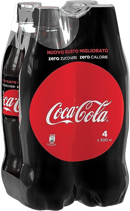 Coca-Cola - Zero, Botella de Plástico 500 ml: Amazon.es: Alimentación y bebidas
