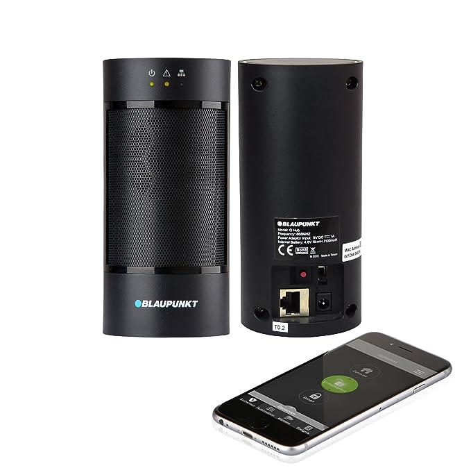 Blaupunkt Smart Home Q3200– Alarma inalámbrica IP Sistema de seguridad con Smartphone aplicación, botones, 433/868, Nickel-Metal Hydride (NiMH), negro
