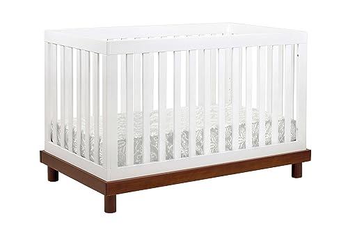 Babymod Olivia 3 in 1 Convertible Crib, Amber White