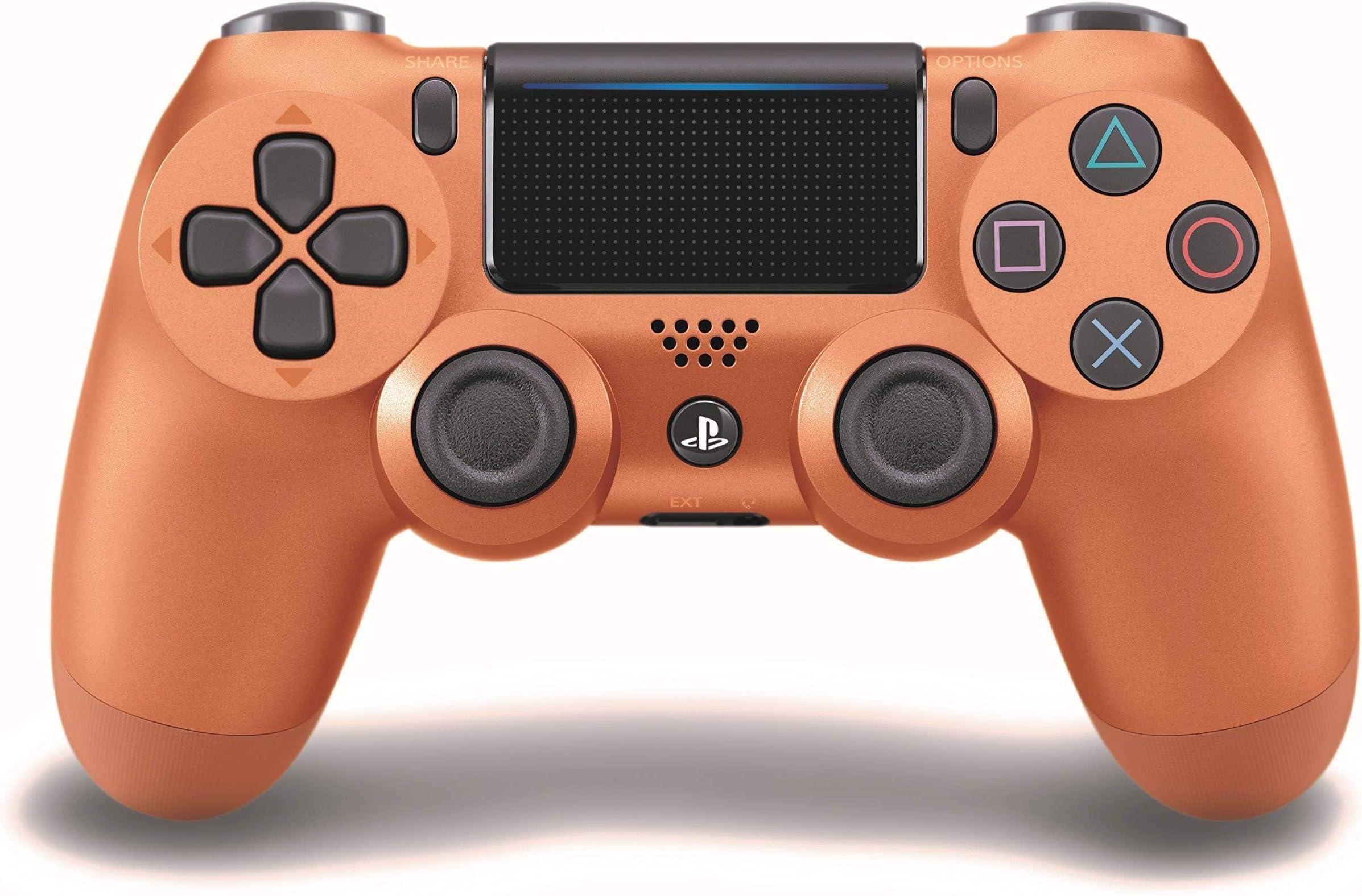 Amazon.com: DualShock 4 - Mando inalámbrico (cobre metálico ...
