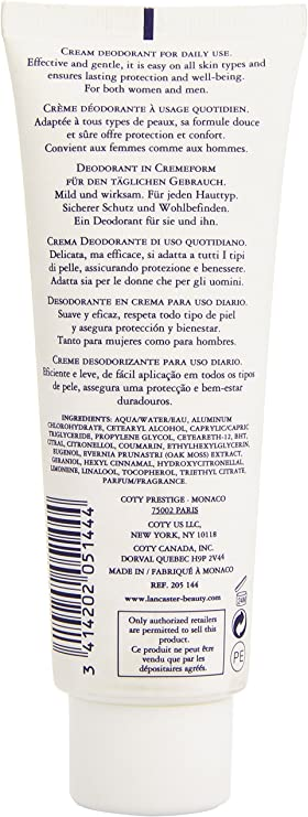 Lancaster Eau De Lancaster Deo Cream Tubo 125 ml: Amazon.es: Belleza