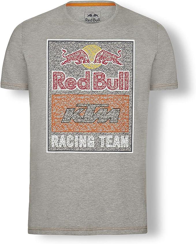Red Bull KTM Mosaic Graphic Camiseta, Gris Hombre Top, KTM Factory Racing Original Ropa & Accesorios