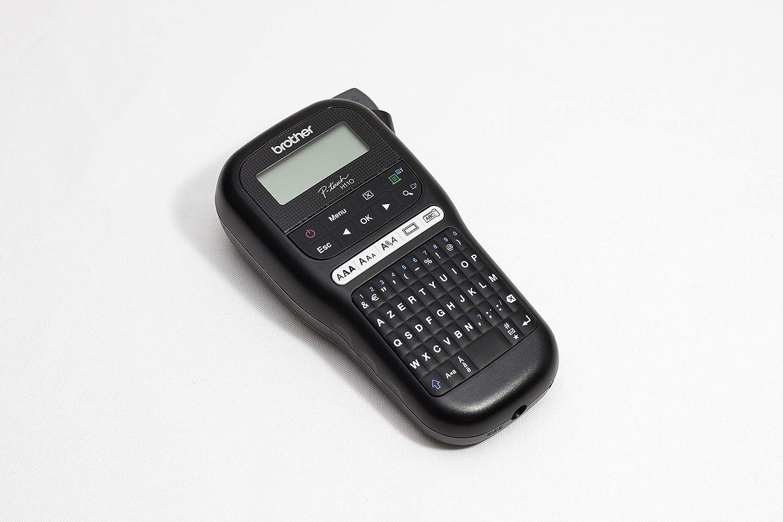 Brother pt-h110/etiqueteuse portatile e divertente Compatto ideale per l uso di ufficio fornita con 1/nastro tze NERO//BIANCO 12/mm