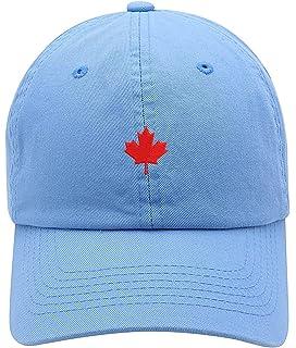 b4bc279283cd13 TOP LEVEL APPAREL Canada Maple Leaf Logo Embroidered Low Profiel Soft Crown  Unisex Baseball Dad Hat