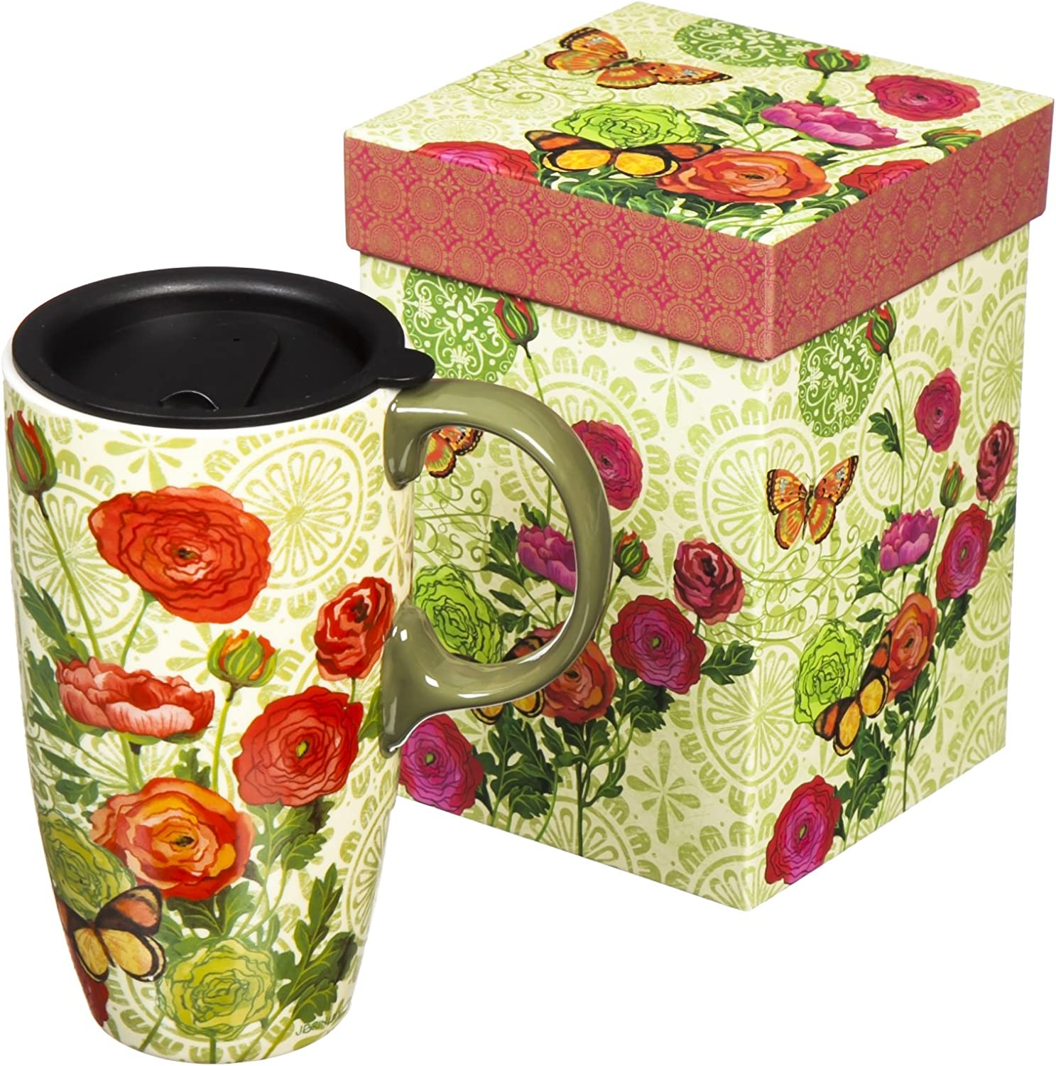 Botanica 17 oz. Boxed Ceramic Latte Travel Cup