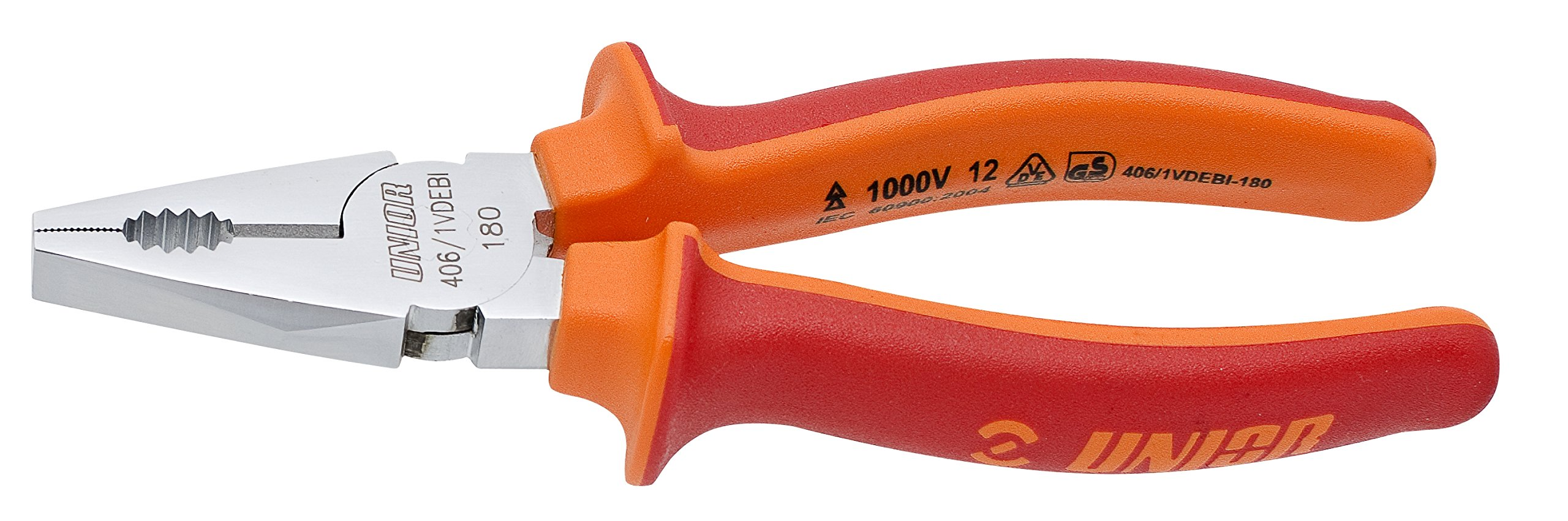 Unior 9610422 Combi Pliers Insulated, 180 mm