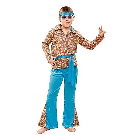 My Other Me - Costume da Hippie con vestito a motivo psichedelico ... 2f8f0f7a844