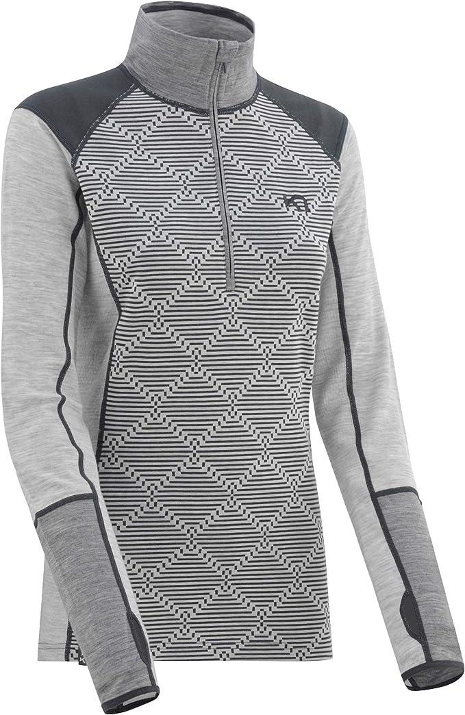 Half Zip Merino Wool Blend Thermal Shirt Kari Traa Womens Kink Base Layer Top